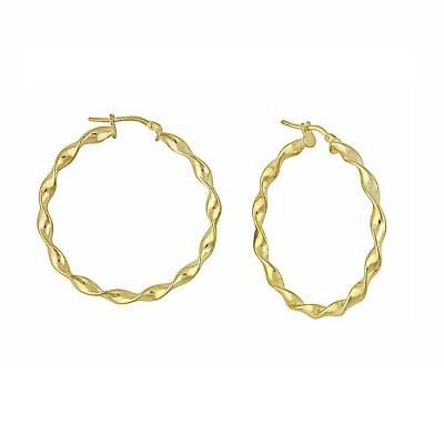 Hoop Earrings in Shades of Precious Metal
