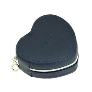 Small Heart Jewellery Travel Box - Blue