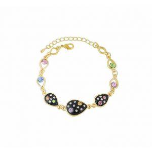 Teardrop Charm Golden Bracelet