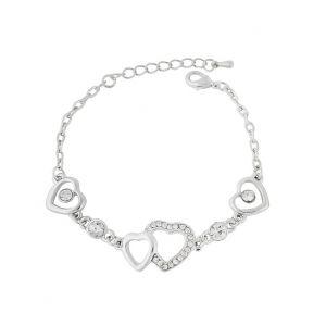Silver Tone Heart Bracelet