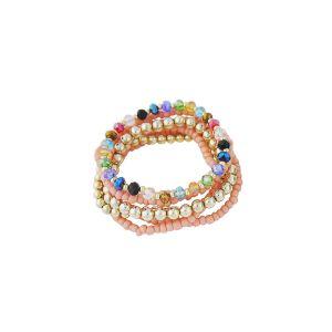 Bead and Crystal Boho Bracelet - boho jewelry