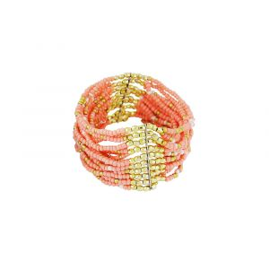Multi Layer Seed Bead Stretchable Bracelet