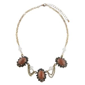 Brown Vintage Style Short Necklace