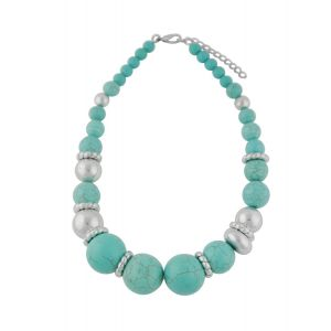 Large Turquoise Bead  Necklace