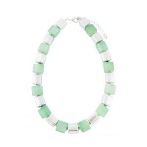 Geometric Bead Short Fashion Necklace