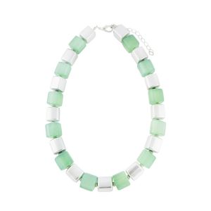 Geometric Bead Short Fashion Necklace