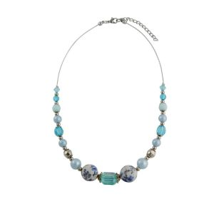 Blue Bead Fashion Necklace