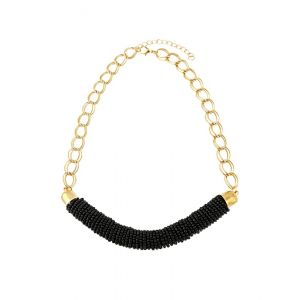 Black Seed Bead Statement Necklace