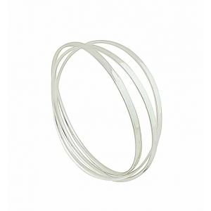 Russian Style Silver Bangle