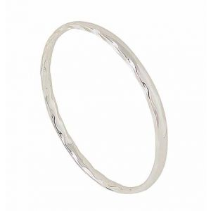 Wave Pattern Sterling Silver Bangle