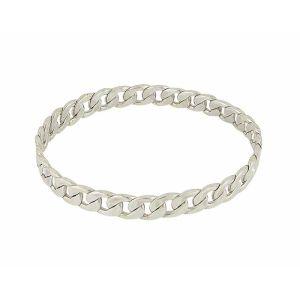 Flat Link Silver Bangle