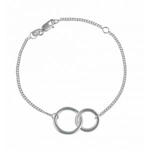 Interlocking Circle Sterling Silver Bracelet