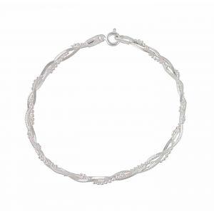 Silver Bead Plait Bracelet
