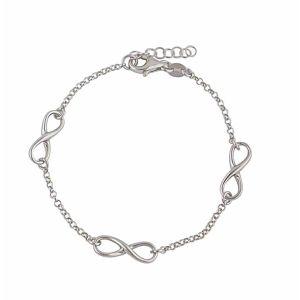 Infinity Link Sterling Silver Bracelet