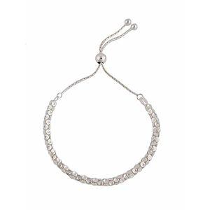 Silver Disc Slider Bracelet