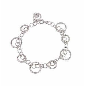 Interlocking Circle Silver Bracelet