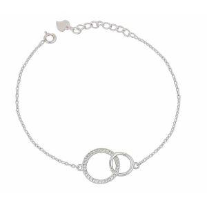 Infiity Circle Silver Bracelet