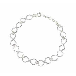 Interlink Infinity Silver Bracelet