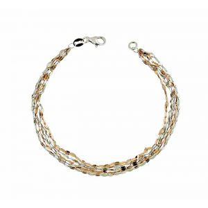 Two Colour Regatta Chain Silver Bracelet