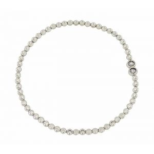 Diamond Cut Silver Ball Bracelet