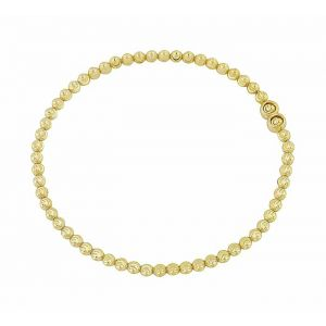 Diamond Cut Gold Plated Silver Ball Bracelet