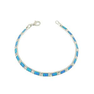 Blue Opal Rectangular Feature Bracelet