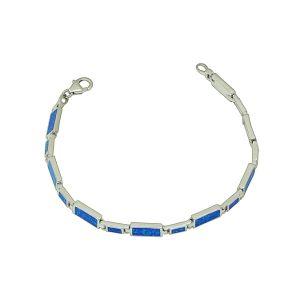 Blue Opal Alternate Link Bracelet