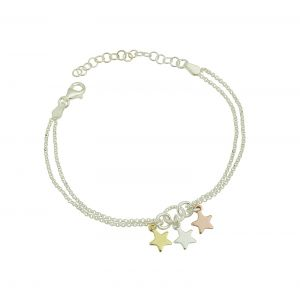 Tri Metal Star Bracelet