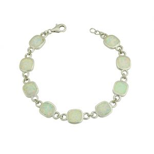 White Opal Partnership Bracelet