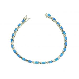 Blue Opal Encaptured Bracelet