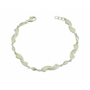 Obverse White Opal Silver Bracelet