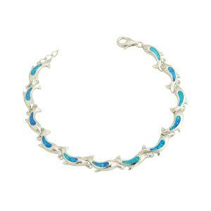 Dolphin Pod Blue Opal Bracelet
