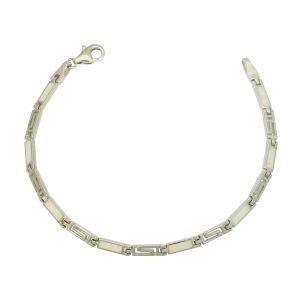 Cleopatra White Opal Link Bracelet