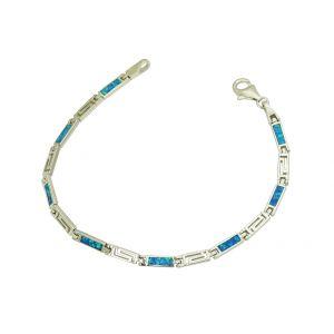 Cleopatra Blue Opal Link Bracelet