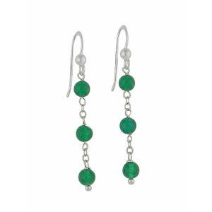 Trio of Green Onyx Drop Earrings