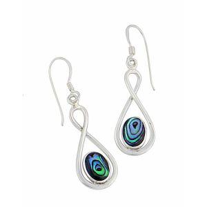 Abalone Infinity Drop Earrings