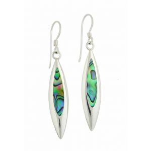Abalone Leaf Charm Drop Earrings