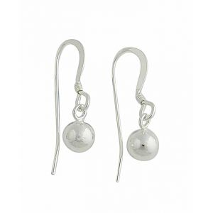 Small Silver Ball Drop Earrings