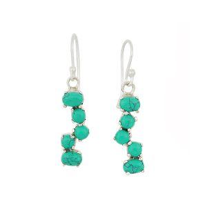 Turquoise Scatter Drop Earrings