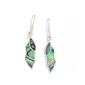 Abalone Shaft Drop Earrings