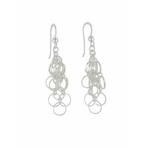 Silver Disc Link Silver Earrings