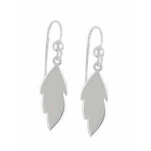 Small Leaf Silver Drop Earrings | The Opal Jewellery