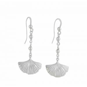 Silver Ball and Textured Shell Earrings | The Opal Jewellery