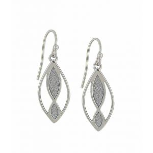 Textured Effect Open Marquise Drop Earrings
