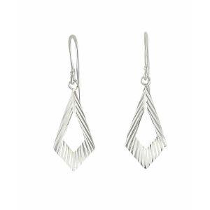 Cut out Geometry Silver Drop Earrings