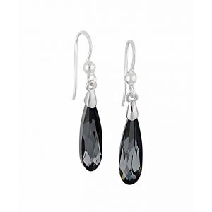 Silver Night Swarovski Crystal Silver Drop Earrings