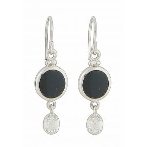 Onyx Circlet Drop Earrings
