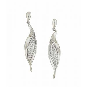 Embedded Crystal Drop Earrings