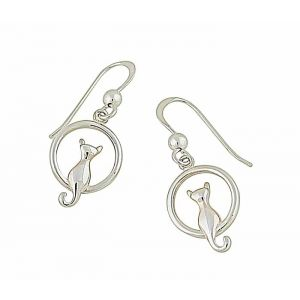 Feline Purrfection Silver Earrings