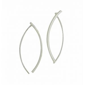 Boned Sterling Silver Earrings